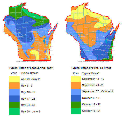 Corn relative maturity zone map